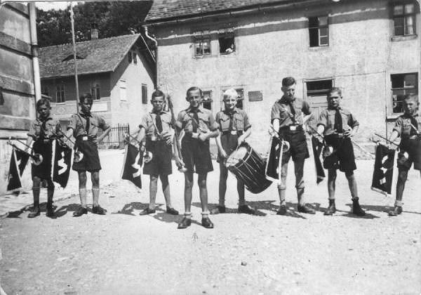 1938 Fanfahrenzug Deutsches Jungvolk Mellingen