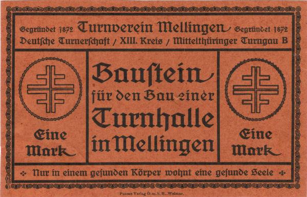 Turnhallenbaustein (um 1900)